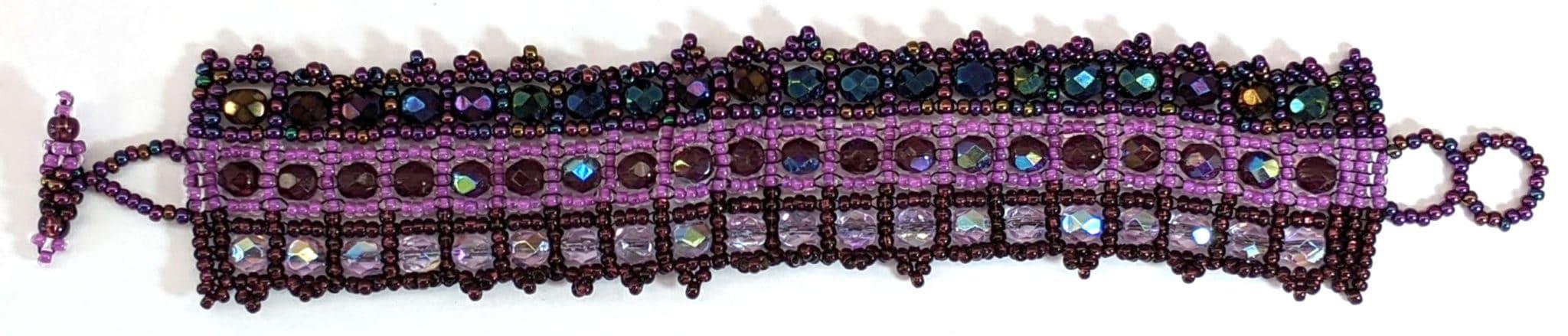 Crystals Bracelet - Purples