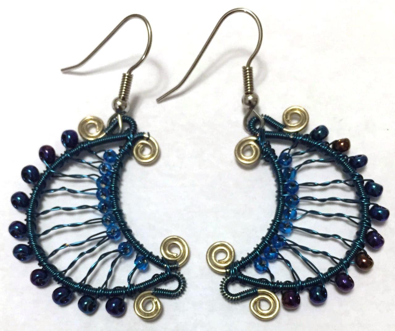 Luna Earrings - Blue