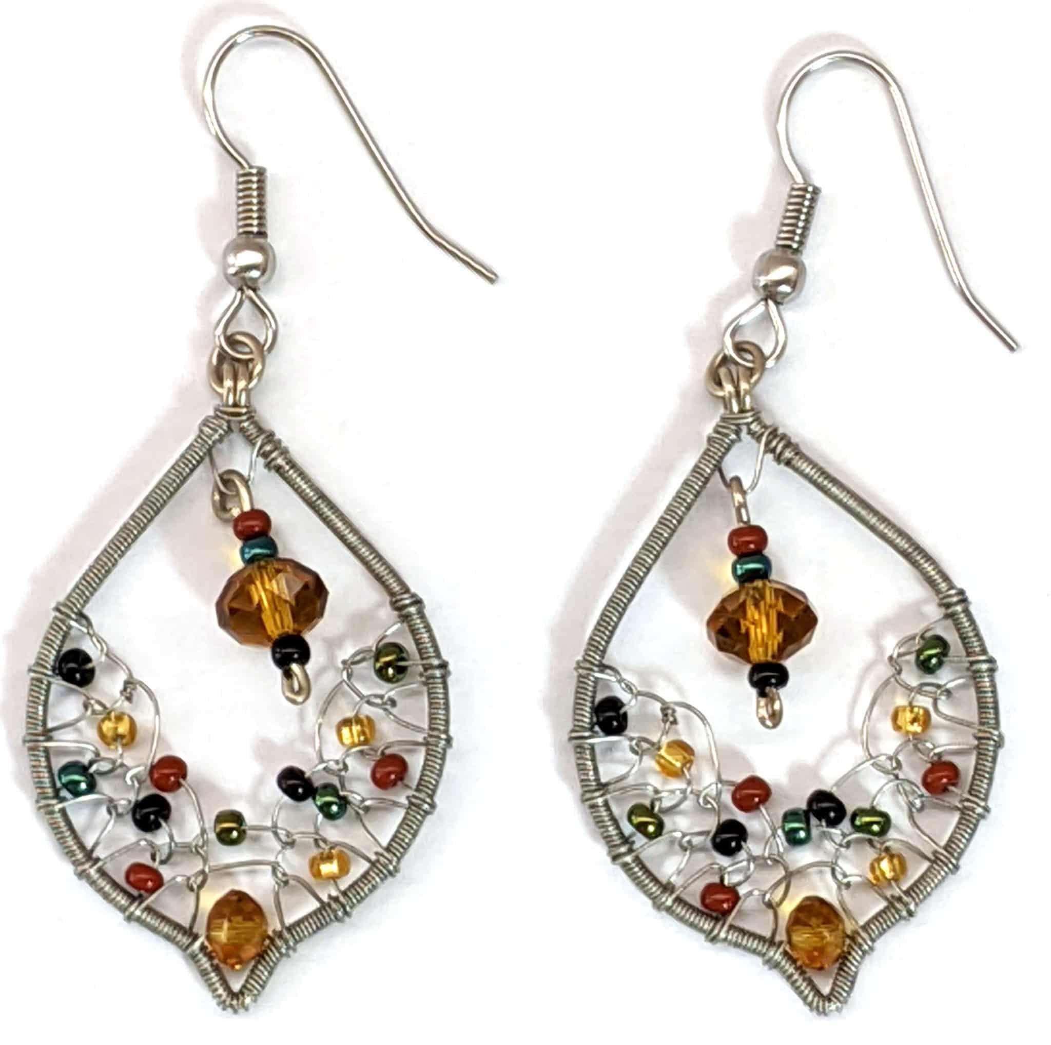 Arabian Nights Earrings - Sophisticated Autumn