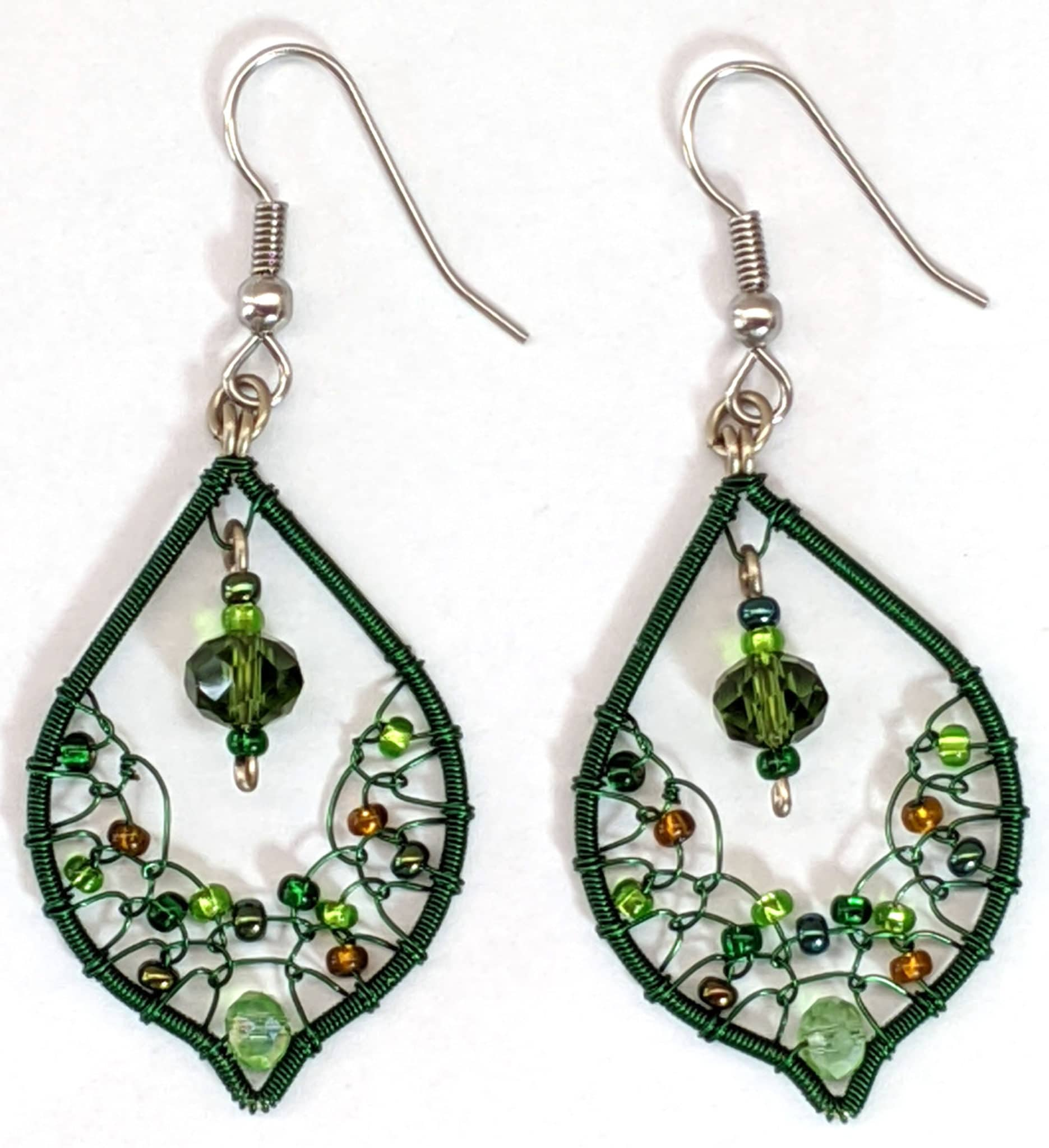 Arabian Nights Earrings - Greens