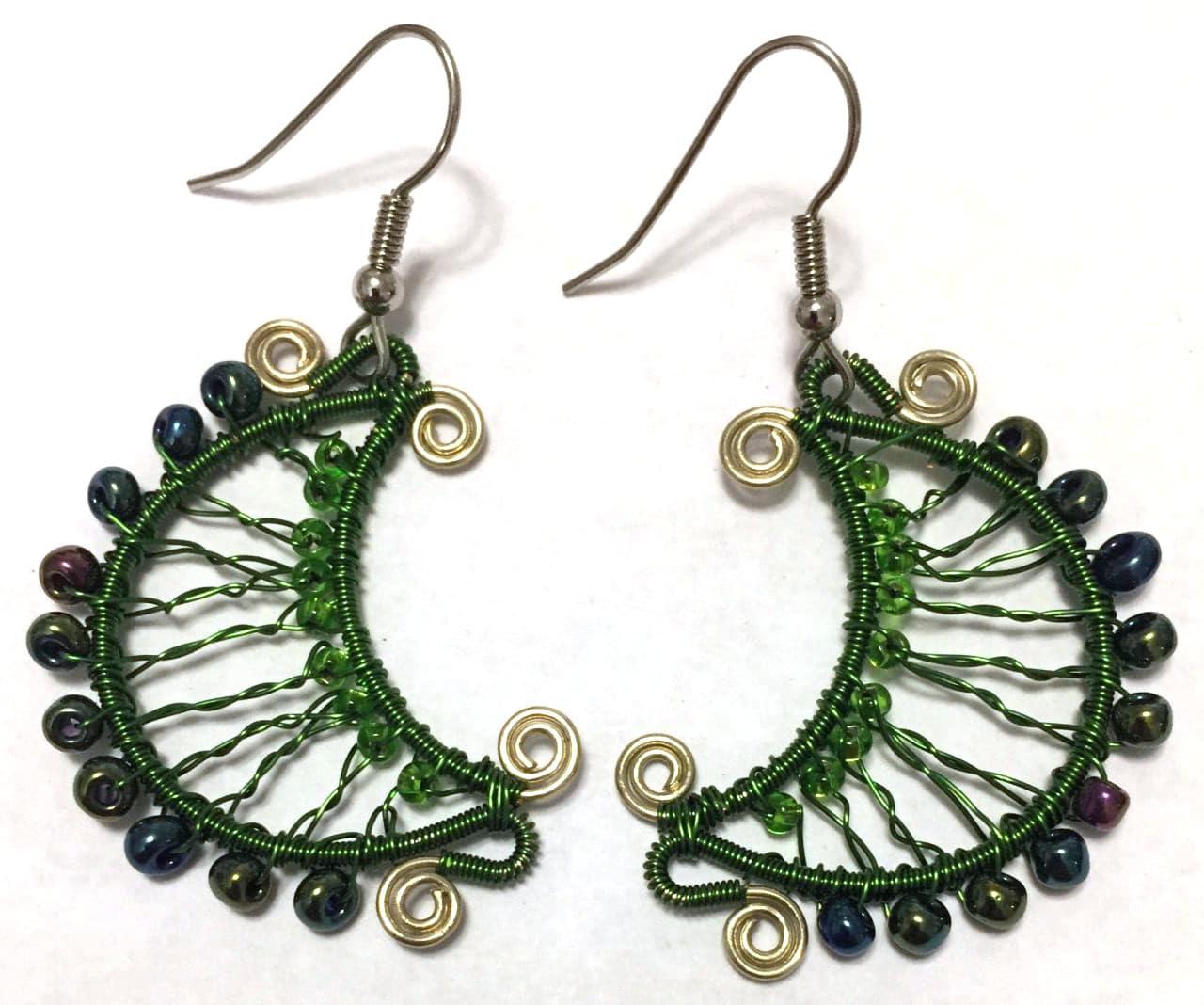 Luna Earrings - Green