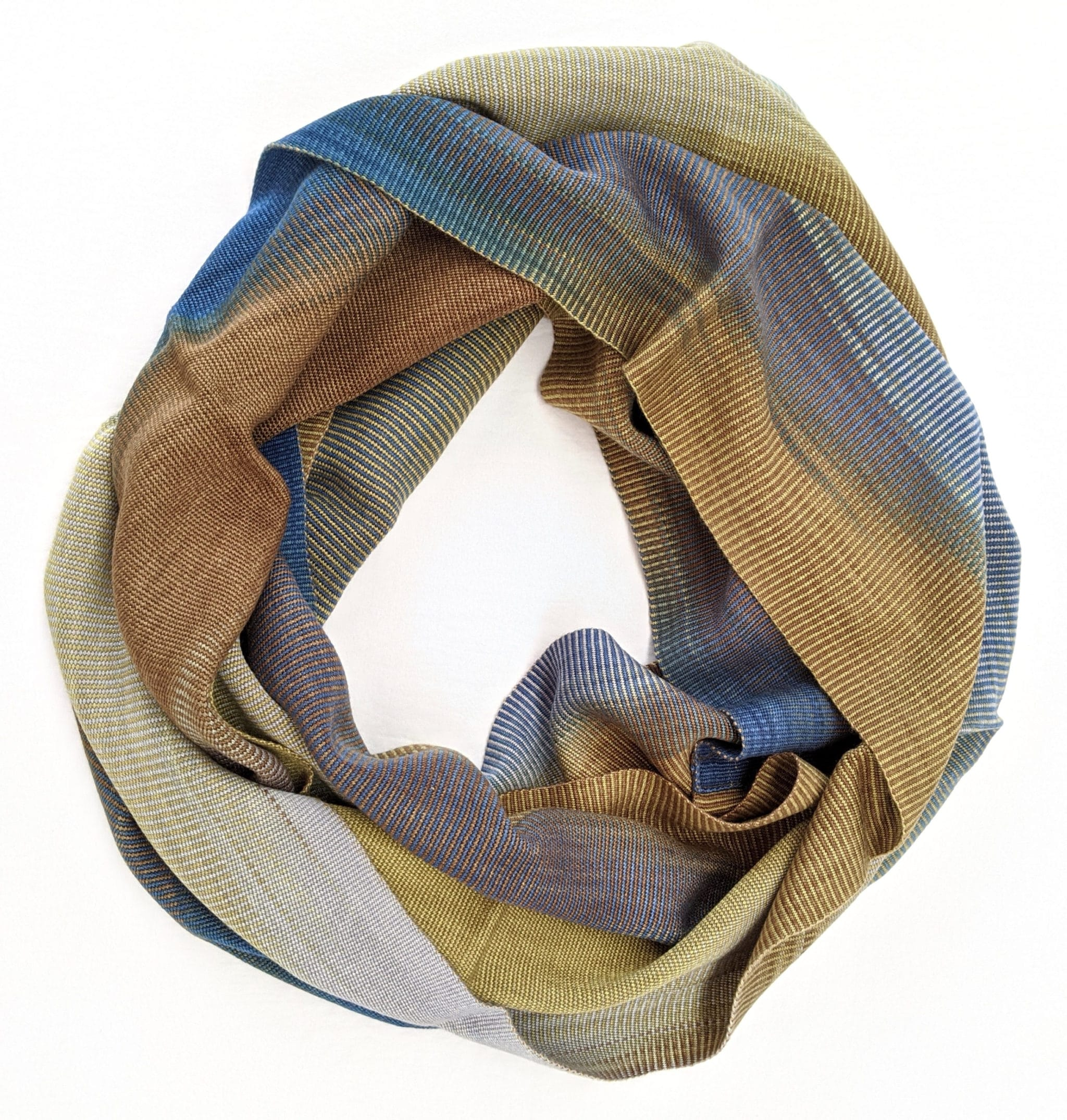 Lightweight Bamboo Handwoven Infinity Scarf 10 x 68 - A Variety of Colors