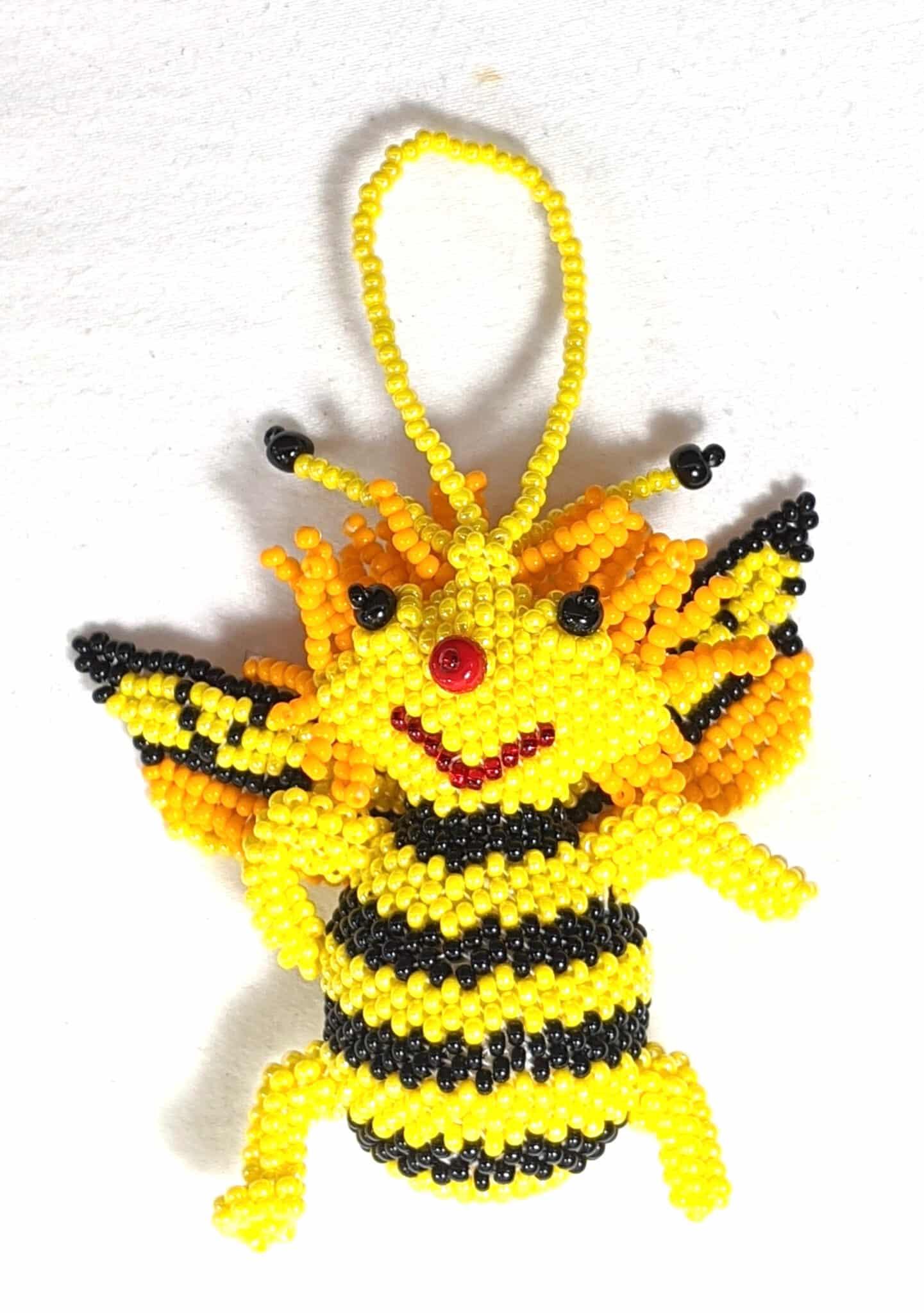 Bee Beaded Ornament #2