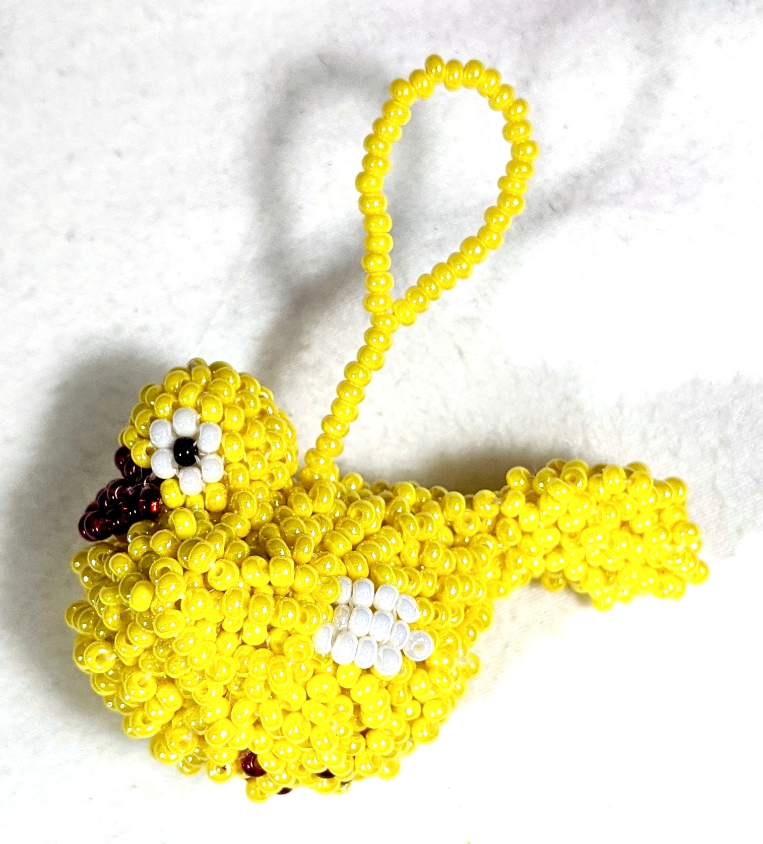 Duckling Beaded Ornament