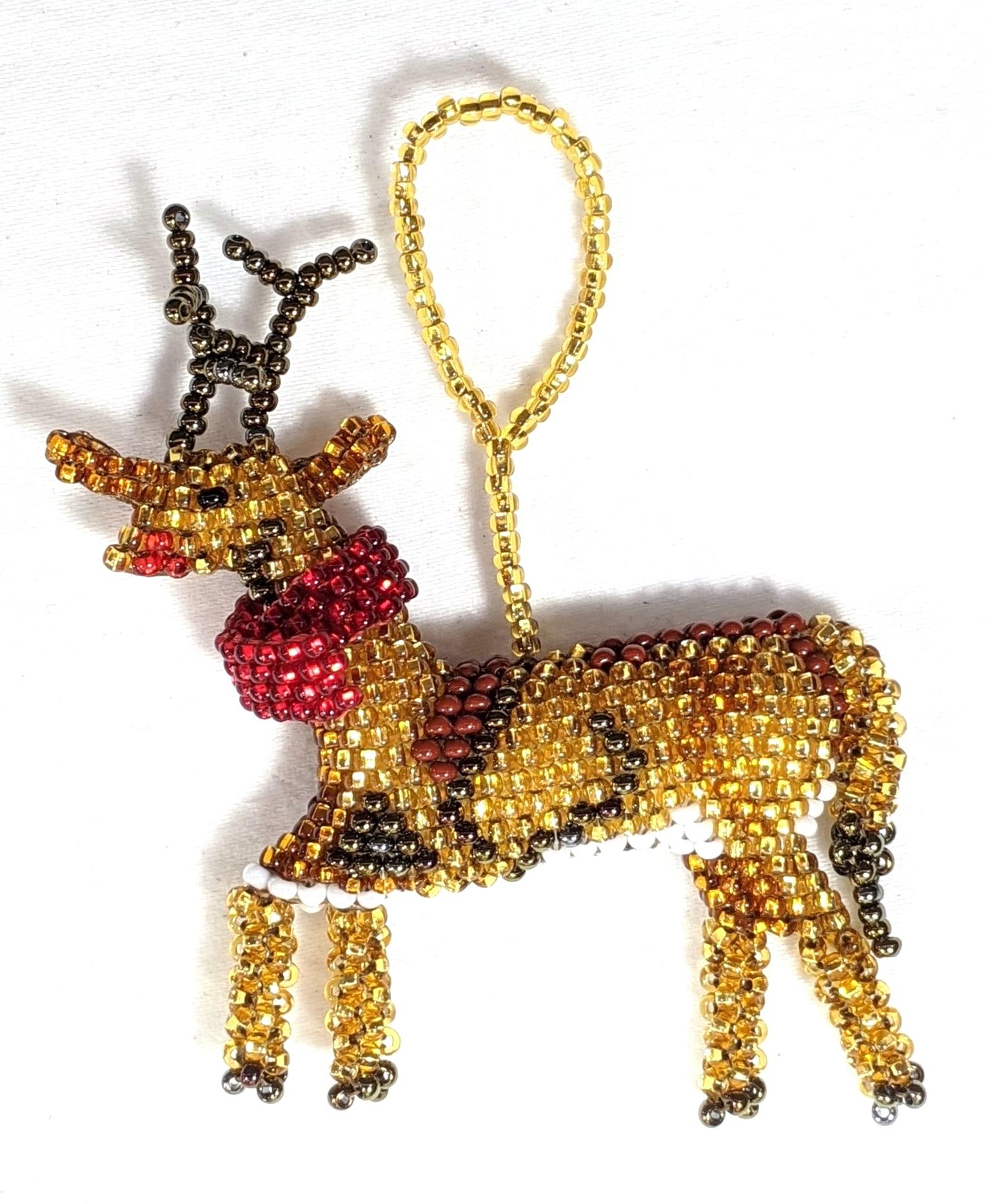 Reindeer Beaded Ornament