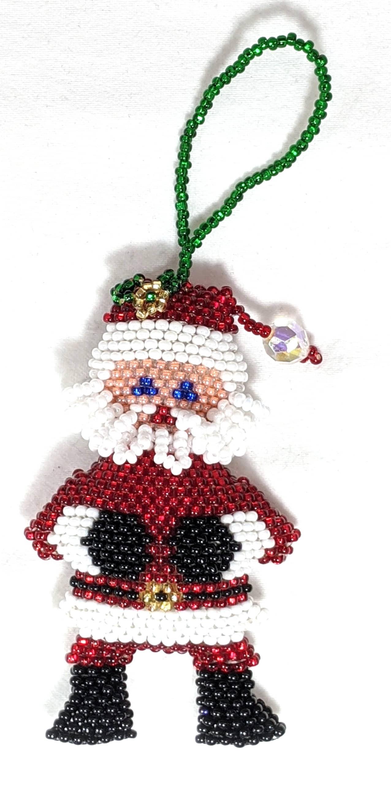 Santa Beaded Ornament