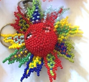 Sun Multicolor Beaded Ornament