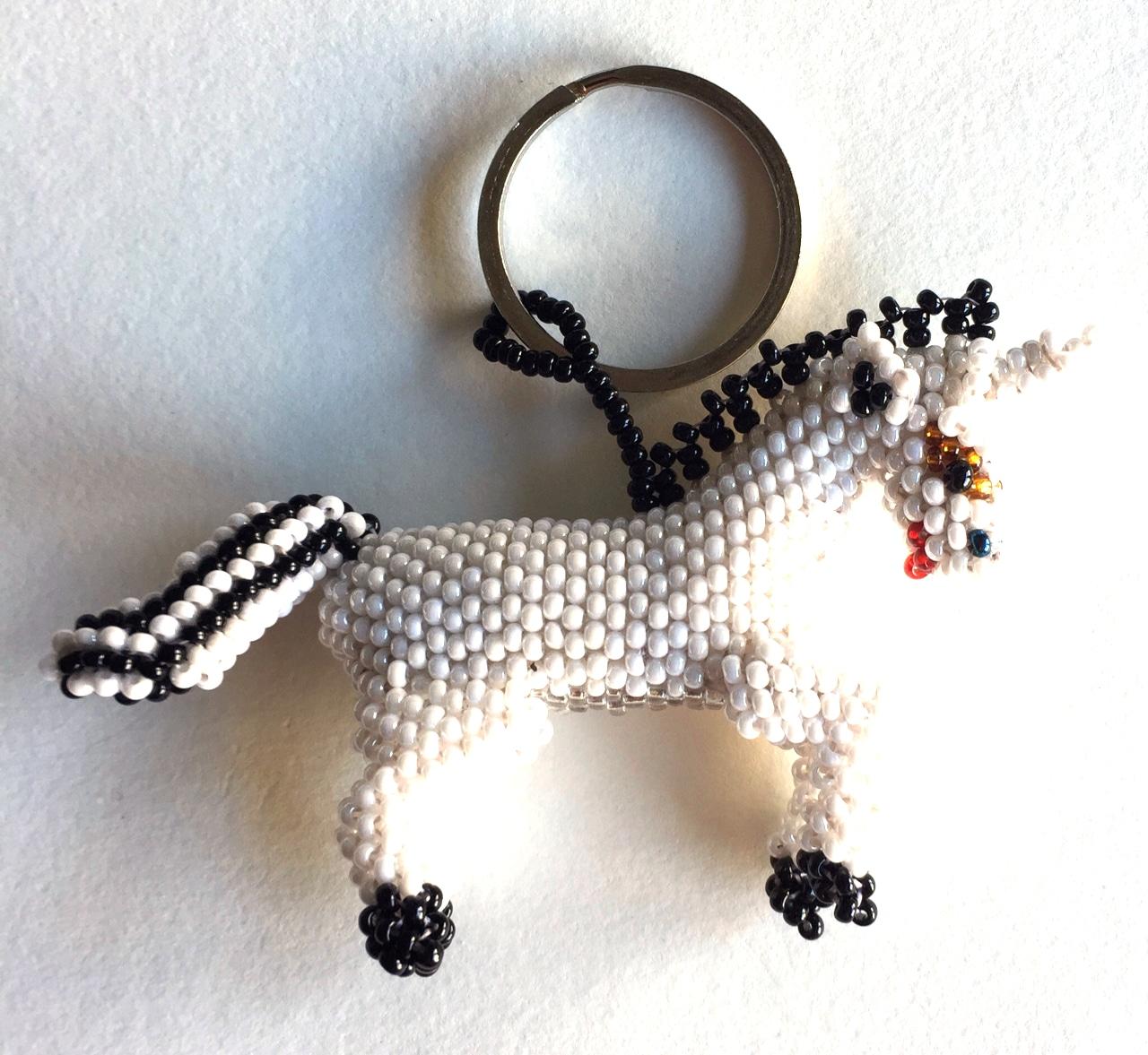 Unicorn Beaded Ornament