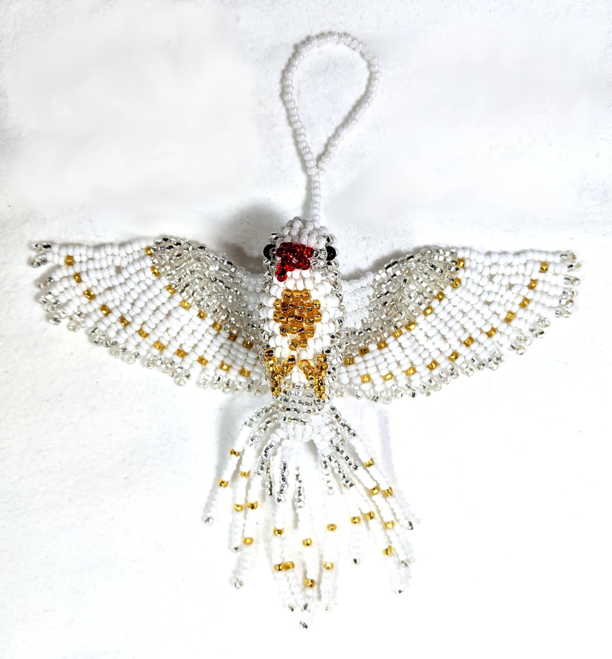 Peace Dove Beaded Ornament