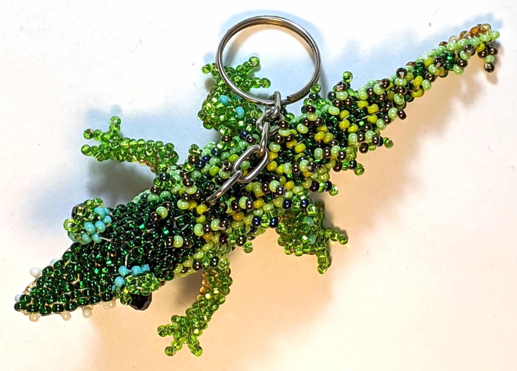 Alligator Beaded Ornament
