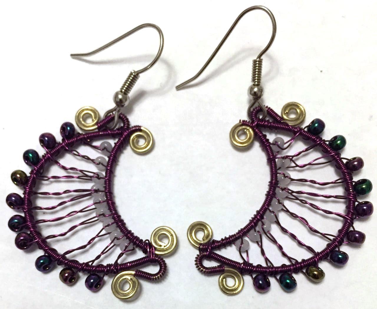 Luna Earrings - Purple