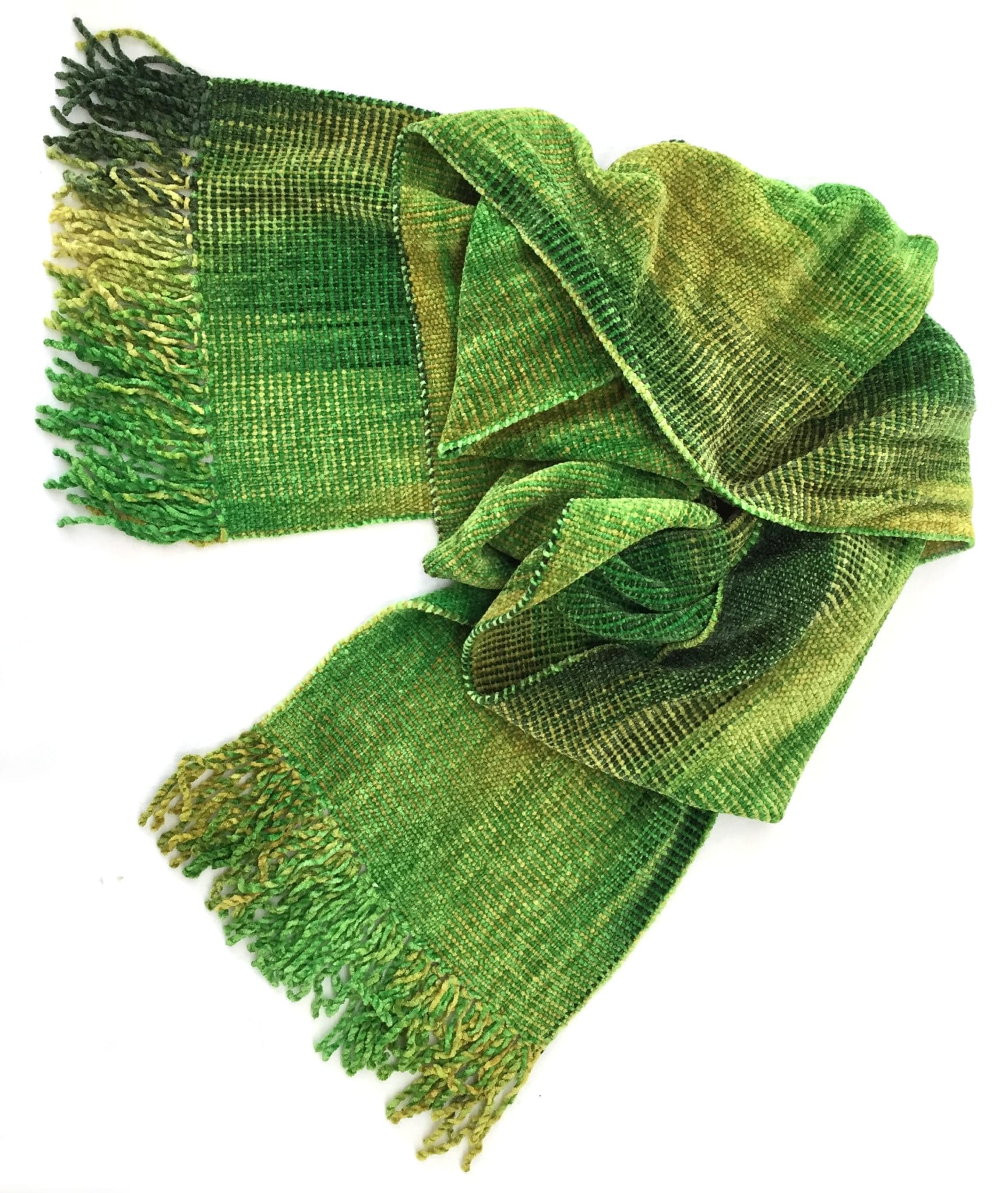 Lime Greens - Bamboo Chenille Scarf 8 x 68