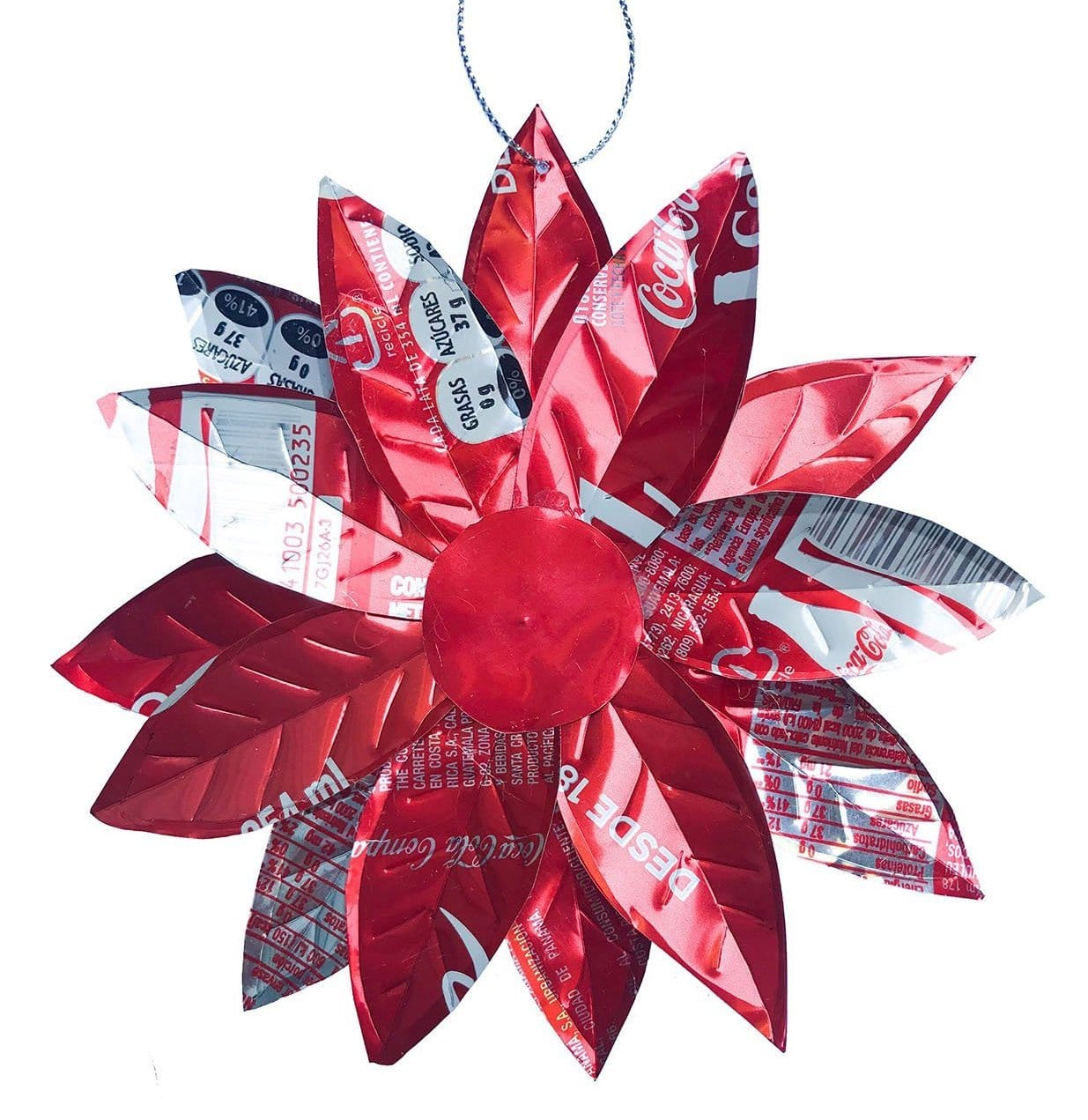 Recycled Poinsettia Ornament