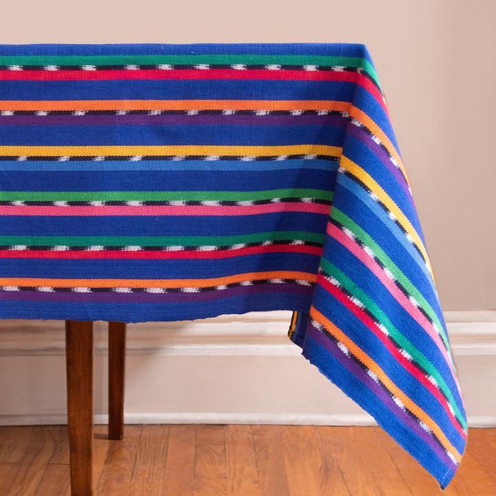Blue Sololá Tablecloth