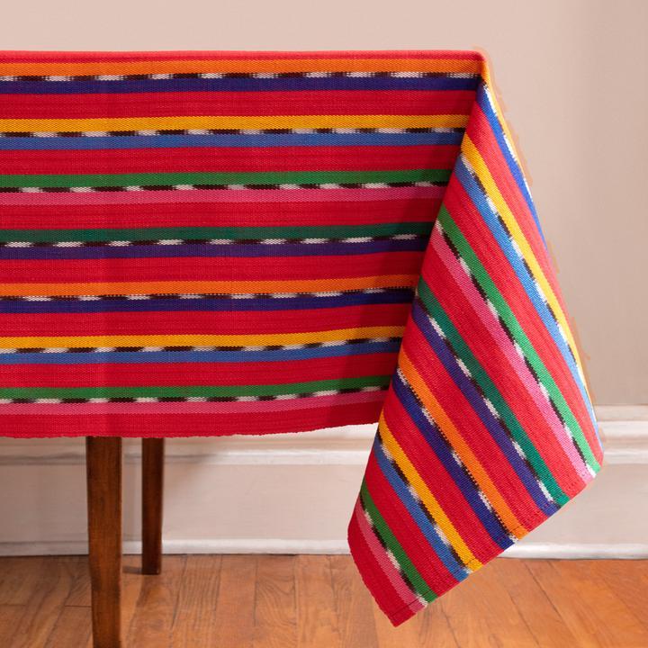 Red Sololá Tablecloth