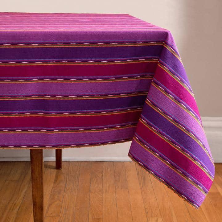 Purple Zunil Tablecloth