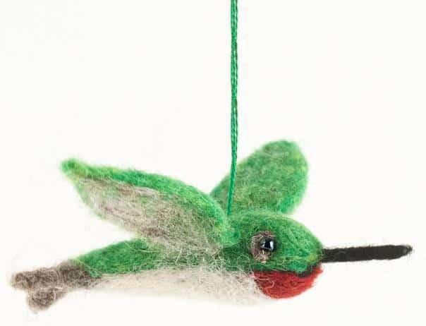 Felted Wool Hummingbird