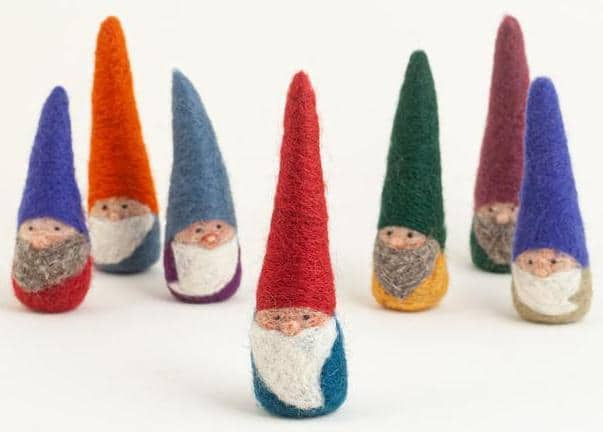 Felted Wool Lucky Gnome