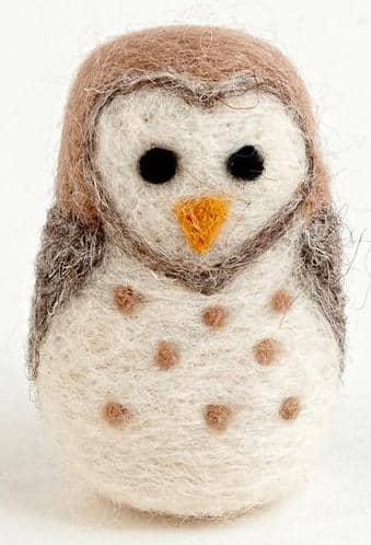 Felted Wool Barn Owl