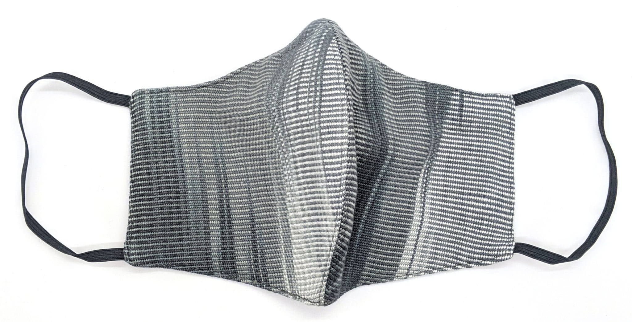 Handwoven Lightweight Bamboo Face Mask with Metal at Bridge of Nose - Black, White, Grays