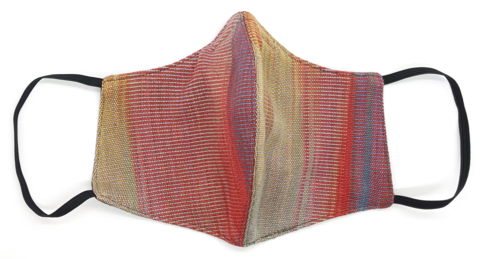 Handwoven Lightweight Bamboo Face Mask with Metal at Bridge of Nose - Red, Gray, Blue, Gold