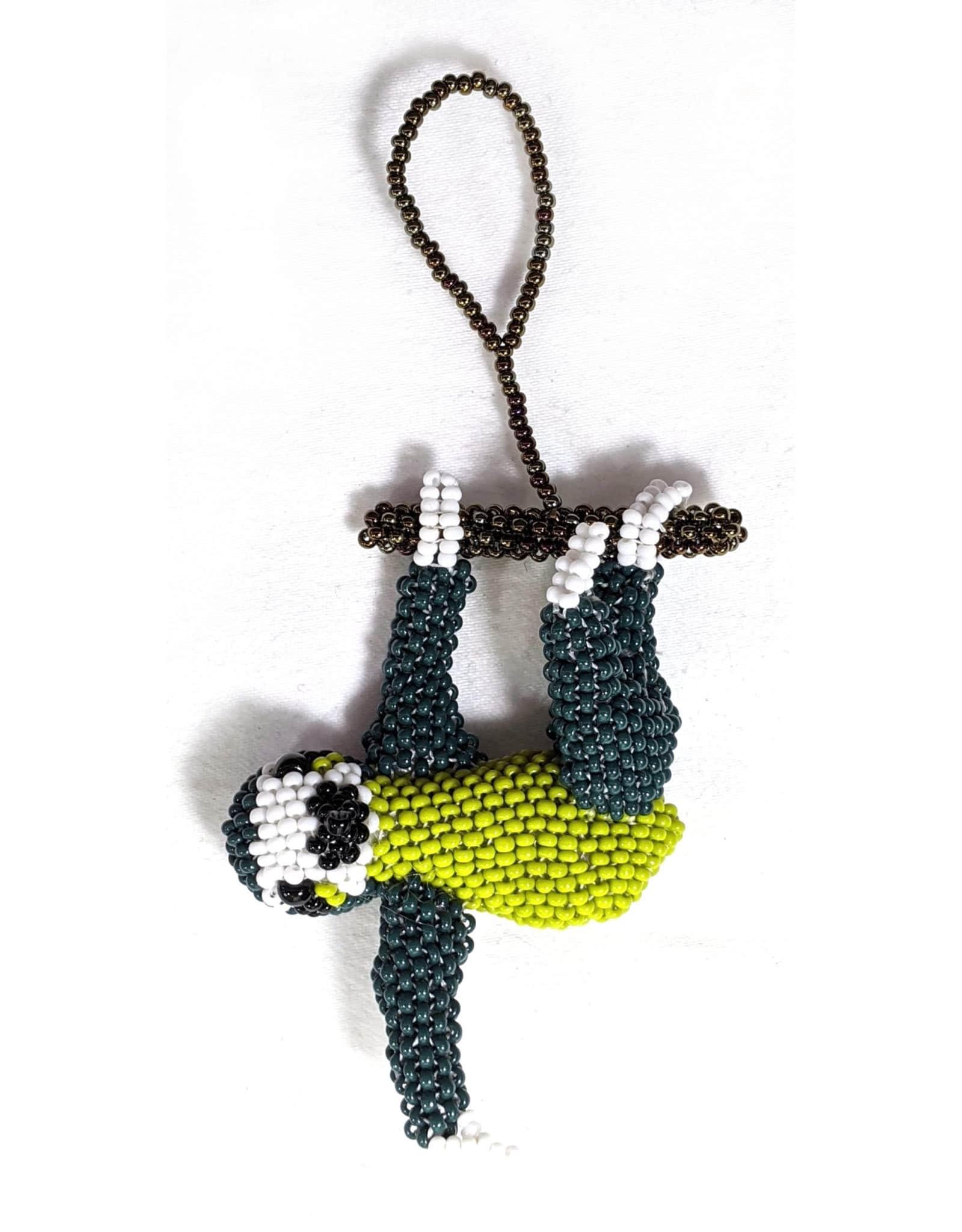 Sloth Beaded Ornament