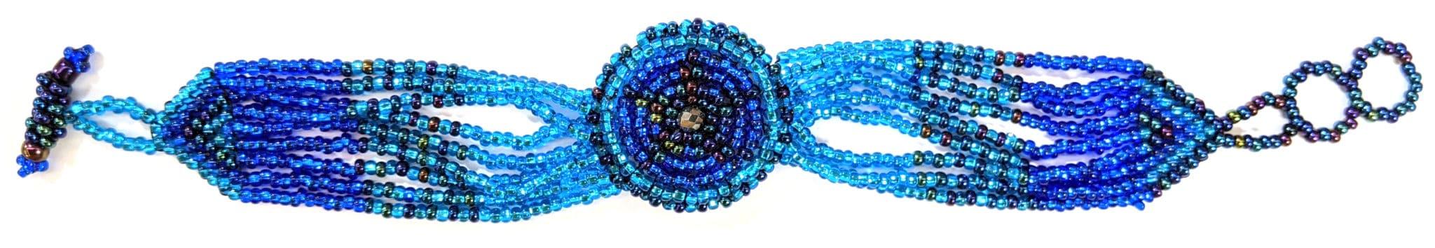 Watch Beaded Bracelet - Blues