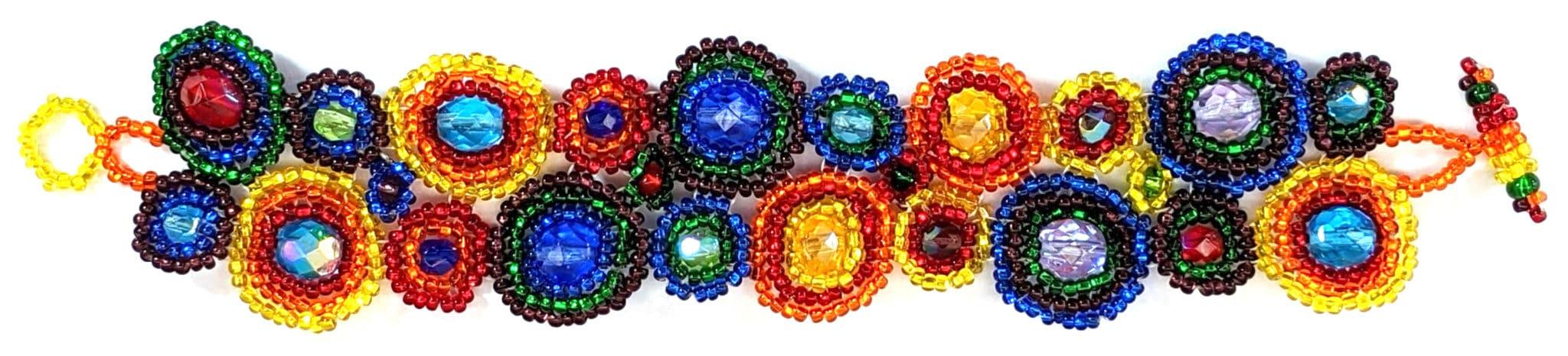 Circles Beaded Bracelet - Rainbow