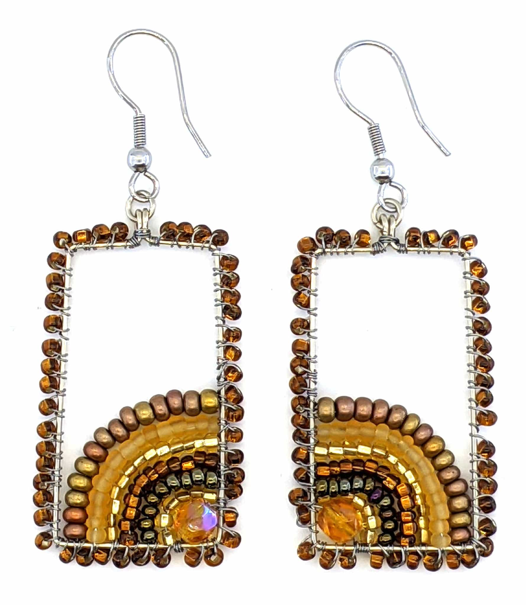 Sunrise Beaded Earrings - Golds